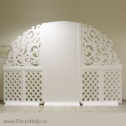 Ажурная свадебная стеночка Президиум